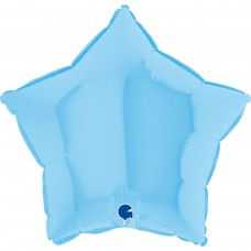 "18 ""(45см) зірка макарун блакитний matte blue (Grabo)"