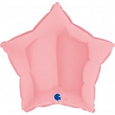 """18"""" (45см) звезда макарун розовый matte pink (Grabo)"""