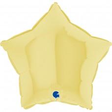 "18 ""(45см) зірка макарун жовтий matte yellow (Grabo)"