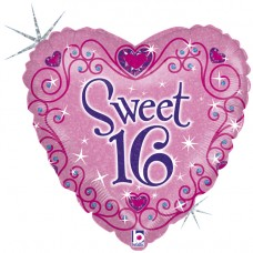 """18"""" (45см) Сердце сладкие 16 (Grabo Италия)"""