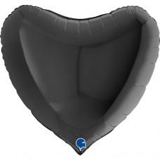 """36 """"(86см) серце чорне (Grabo)"""