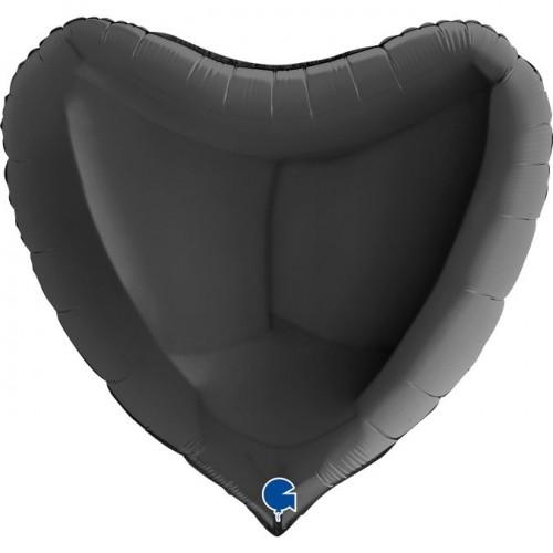 """36"""" (86см) сердце черное (Grabo)"""