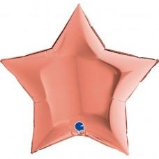 "36"" (86см) звезда розовое золото (Grabo)"