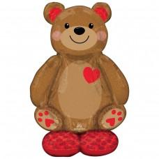 Стоячий шар Медвежонок с сердцем (под воздух)