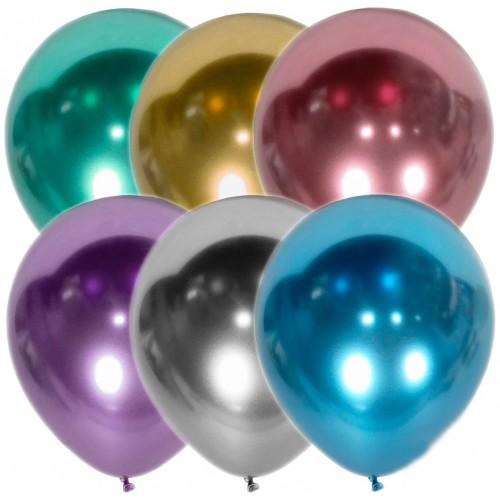 """12"""" (30см) кулька ХРОМ асорті, Kalisan (50шт)"""