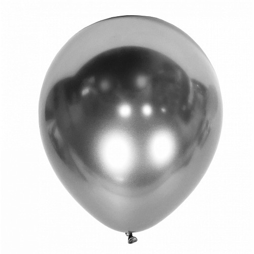 "12"" (30см) шар ХРОМ серебро, Kalisan (50шт)"