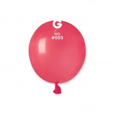 "3"" (8см) куля латексна пастель червона/05 (100шт) Gemar (Італія)"
