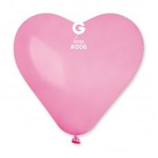 """G 10"""" (25см) Сердца пастель розовые 06 (100шт)"""