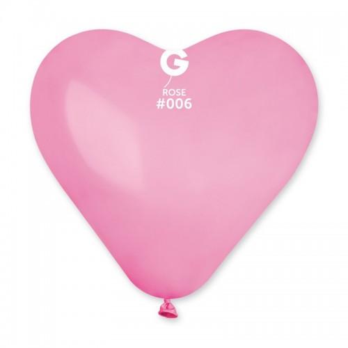 """G 6"""" (15см) сердца розовые 06 (100шт)"""