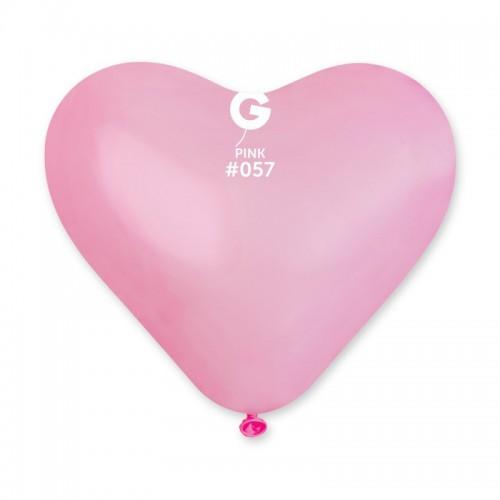 """17"""" (44см) Сердца пастель розовые 57 (50шт) Италия Gemar"""