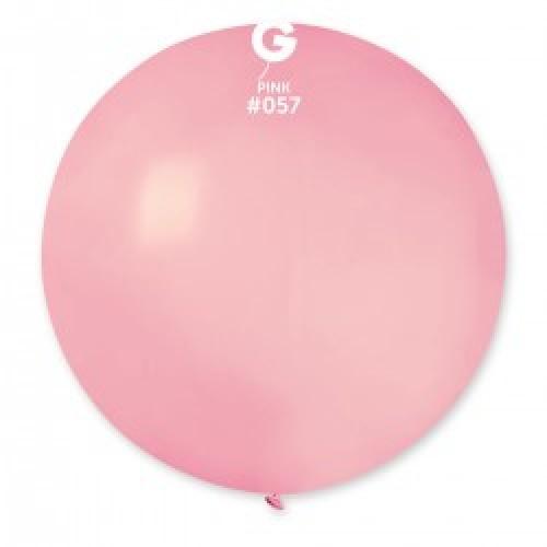"""31""""(78см) шар латексный пастель розовый/57 (1шт) Gemar (Италия)"""