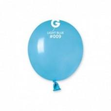 """3 """"(8см) куля латексна пастель блакитна / 09 (100шт) Gemar (Італія)"""