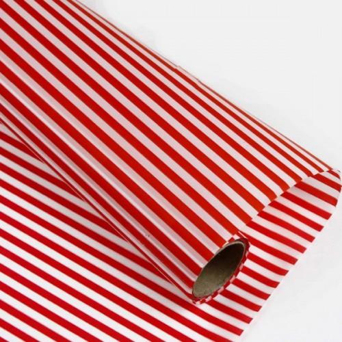 Калька матовая полоски красн-бел 0,7х10м