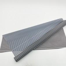 Калька матовая полоски черн-бел 0,7х10м