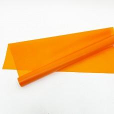 Калька матовая однотонная оранжевая 0,7х10м