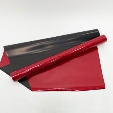 Калька матово-глянцевая красно-черная 0,6х10м