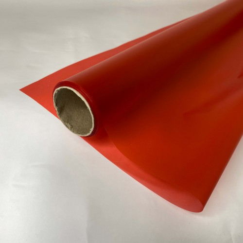 Калька матовая однотонная красная 0,7х10м