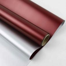 Калька металік срібло + бордо 0,6х10м