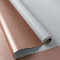 Калька двостороння рожеве золото + світло блакитний 0,6мх8м