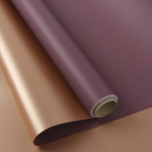 Калька двухсторонняя розовое золото+фиолет 0,6мх8м