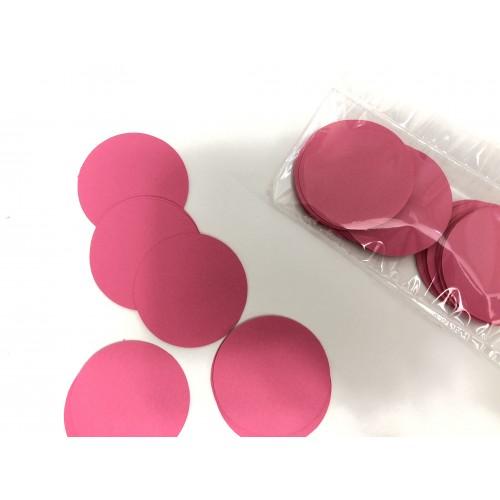 Кружочки картонные малиновые 4.5см (28шт)