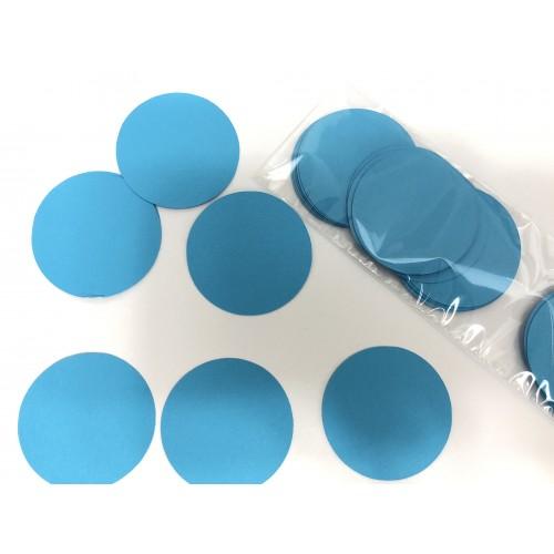 Кружочки картонные голубые 4.5см (28шт)