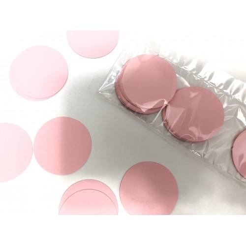 Кружочки картонные розовые 4.5см (28шт)