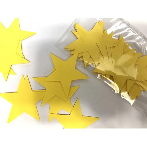 Звездочки картонные желтые 6см (28шт)