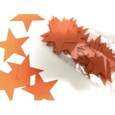 Звездочки картонные оранжевые 6см (28шт)