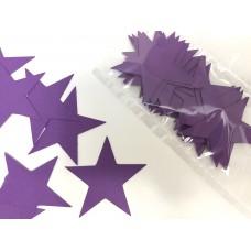 Зірочки картонні фіолетові 6см (28шт)