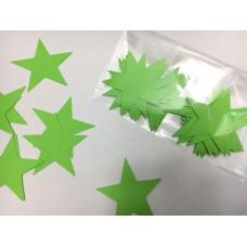 Звездочки картонные салатовые 6см (28шт)
