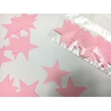 Зірочки картонні рожеві 6см (28шт)