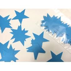 Зірочки картонні блакитні 6см (28шт)