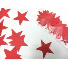 Зірочки картонні червоні 6см (28шт)