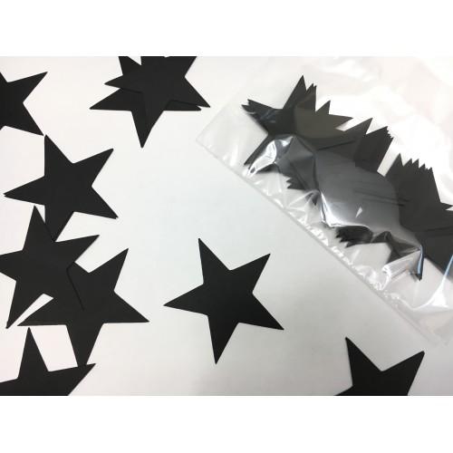 Звездочки картонные черные 6см (28шт)