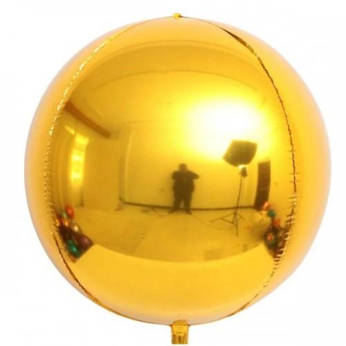 """3d сфера б/рис 16"""" (40см) металлик gold КИТАЙ"""