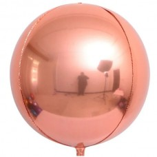 """3d сфера б/рис 16"""" (40см) металлик розовое золото КИТАЙ"""