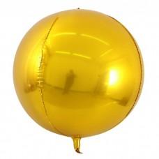 """3d сфера б/рис 22"""" (56см) металлик gold КИТАЙ"""