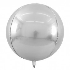 "3d сфера б/рис 22"" (56см) металлик silver КИТАЙ"