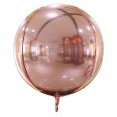 """3d сфера б/рис 22"""" (56см) металік рожеве золото КИТАЙ"""
