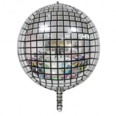 Фольгированный шар 3D Диско 28х56см (Китай)