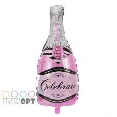 Бутылка шампанского розовая, 93*48 см (Китай БФ)