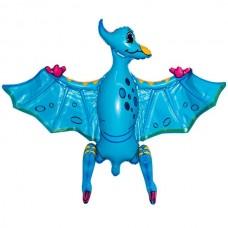 Стоячка Птеродактиль голубой 80х55 см (Китай БФ)
