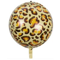 Фольгована сфера 3D Леопард 28х56см (Китай)