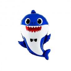 Акула тато синій 49х66см (baby shark Китай БФ)