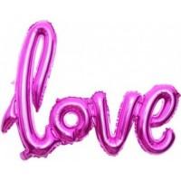 """Шар """"LOVE"""" фуксия 72см"""
