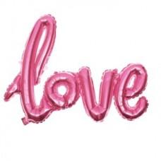 """Куля """"LOVE"""" рожевий металік 72см"""