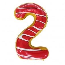 Фольгована цифра 2 Candy number 102см Китай