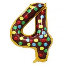 Фольгована цифра 4 Candy number 102см Китай