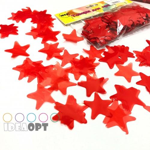 Конфетти звездочки красные 50гр